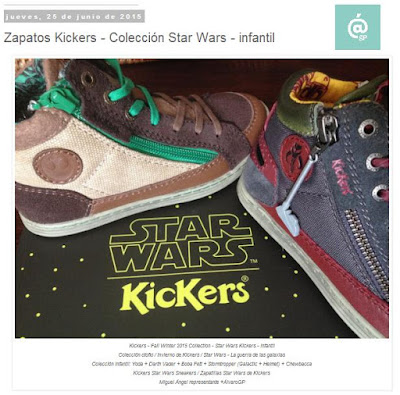 Lo + leído en el troblogdita - enero 2016 - ÁlvaroGP - Álvaro García - Zapatos Kickers - Colección Star Wars - infantil