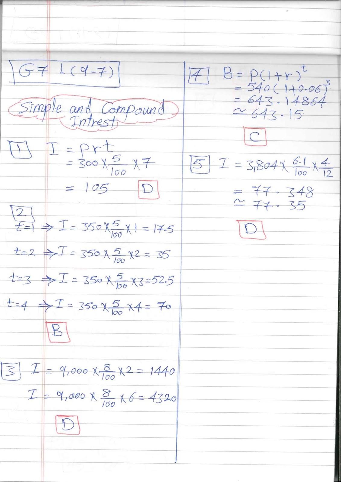 G7 Worksheets Easy Math