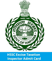 HSSC Excise Taxation Inspector Admit Card