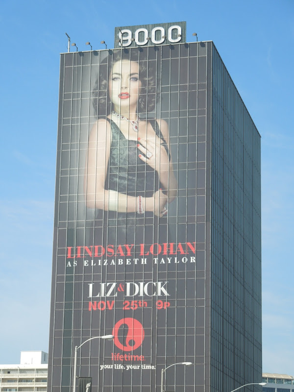Giant Liz and Dick Lifetime billboard Sunset Boulevard
