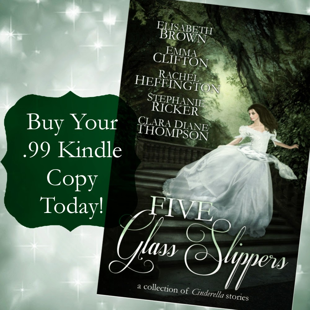 http://www.amazon.com/Five-Glass-Slippers-Collection-Cinderella-ebook/dp/B00KWMZ9WA/ref=sr_1_1?ie=UTF8&qid=1402990401&sr=8-1&keywords=Five+Glass+Slippers