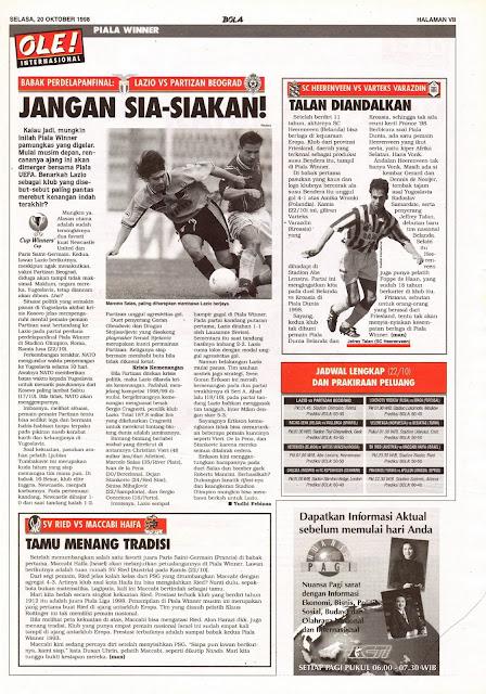 UEFA WINNER CUP 1998 LAZIO VS PARTIZAN BEOGRAD