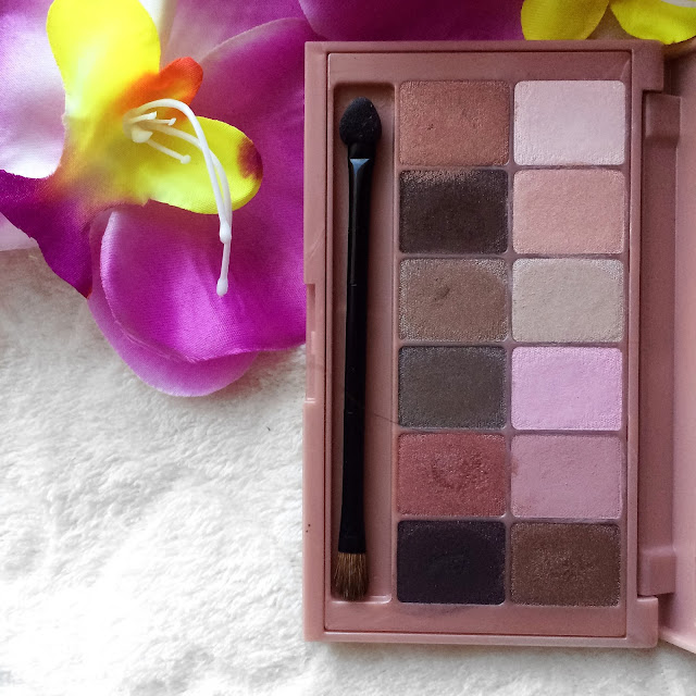review and swatches_The Blushed Nudes by Maybelline