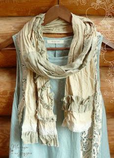 шарф льняной