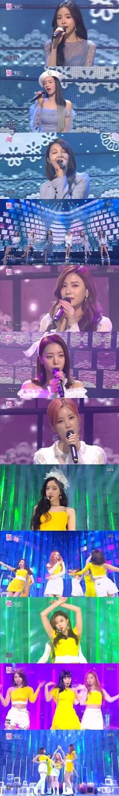 A Pink 'Inkigayo'da geri dönüş yaptı