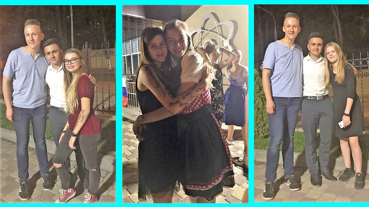 Blaues jugendlich verbindet russisch