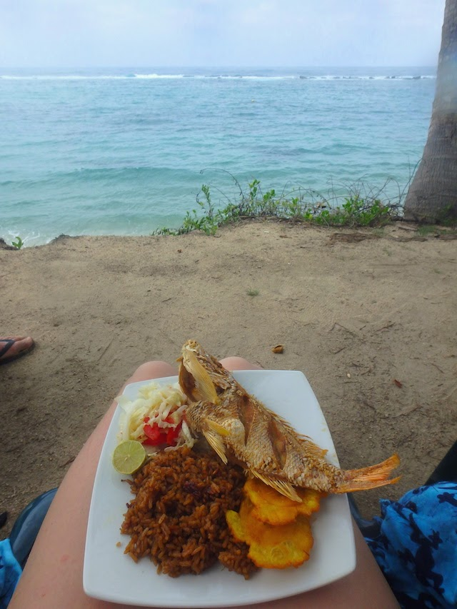Lunch at La Piscina, Tayrona National Park, Colombia