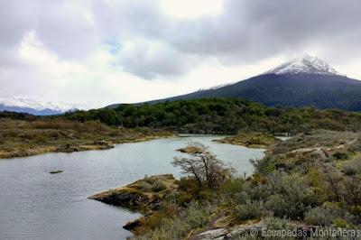 Vistas del Archipielago Cormoranes en el Parque Nacional Tierra del Fuego, Ushuaia, Argentina.