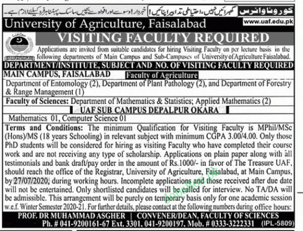 university-of-agriculture-faisalabad-uaf-jobs-2020