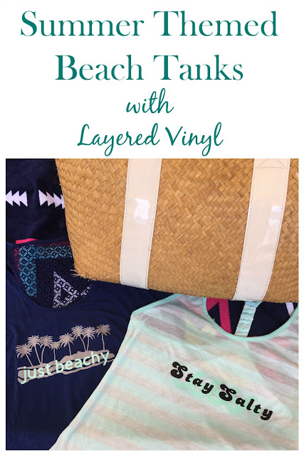 Add a beachy saying to a plain t-shirt with Cricut Iron On Vinyl and an Easy Press!