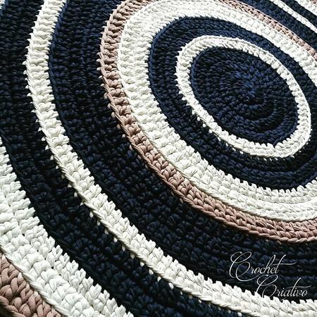 Crochet Criativo - Tapete de Crochê Moderno