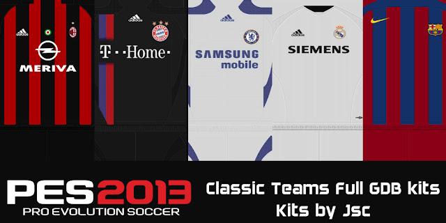 900ad4d26f1 PES 2013 Classic Teams Full GDB kits - Micano4u | PES Patch | FIFA ...