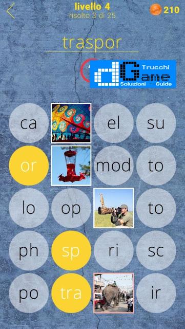 650 Parole soluzione livello 4 (1-25) Parola e foto