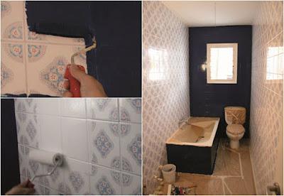 Renovar um antigo banheiro pode não ser a melhor idéia se o seu bolso estiver percebendo a crise. Mas há uma solução simples para dar a você uma lavagem facial exótica, enquanto os tempos melhores vêm : pinte os azulejos antigos com os novos esmaltes para facilitar a aplicação