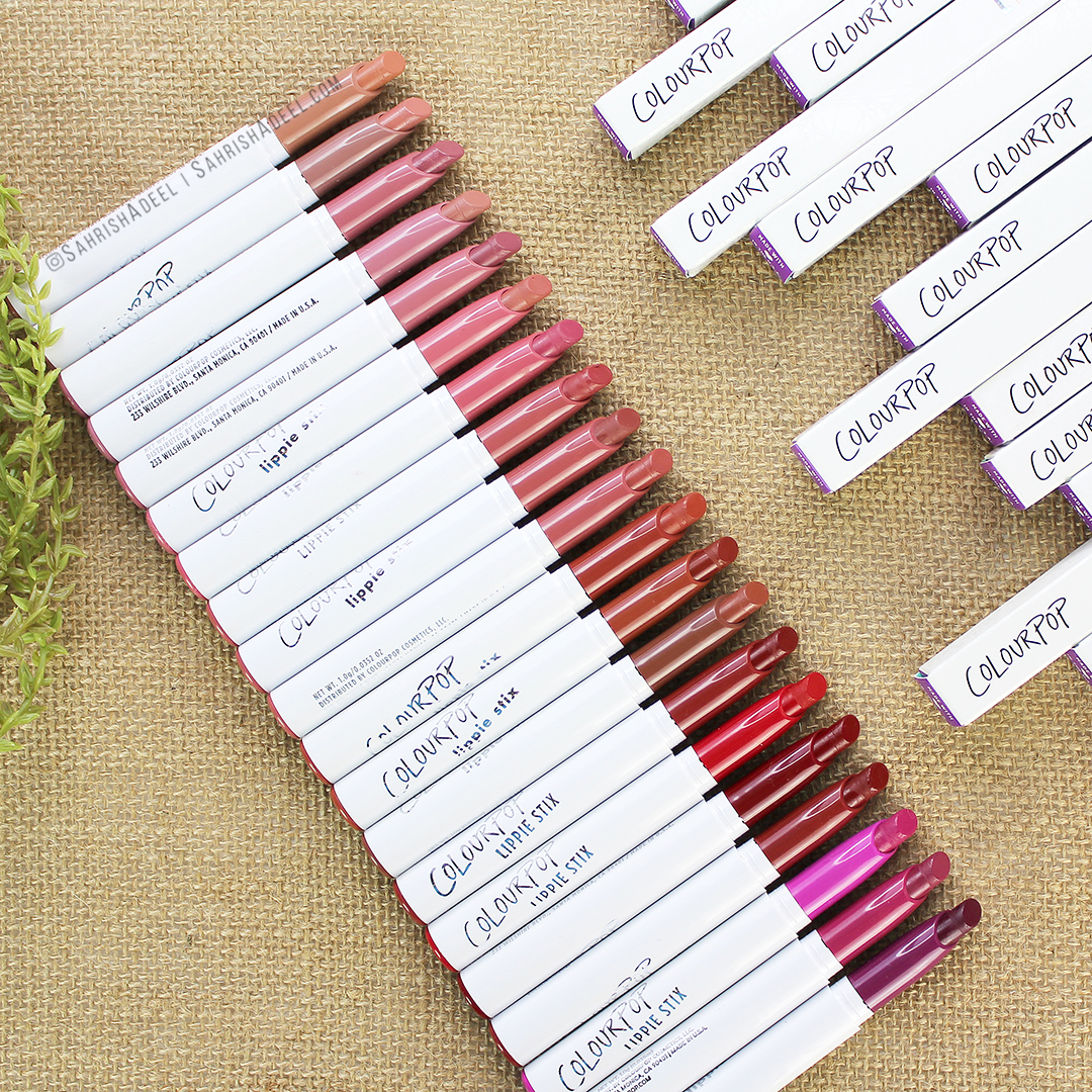 ColourPop Lippie Stix - Reviews, Lip Swatches and Arm Swatches + 20% Discount Code