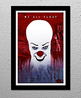 Stephen King Print, Stephen King's IT, Pennywise the Clown,We all Float