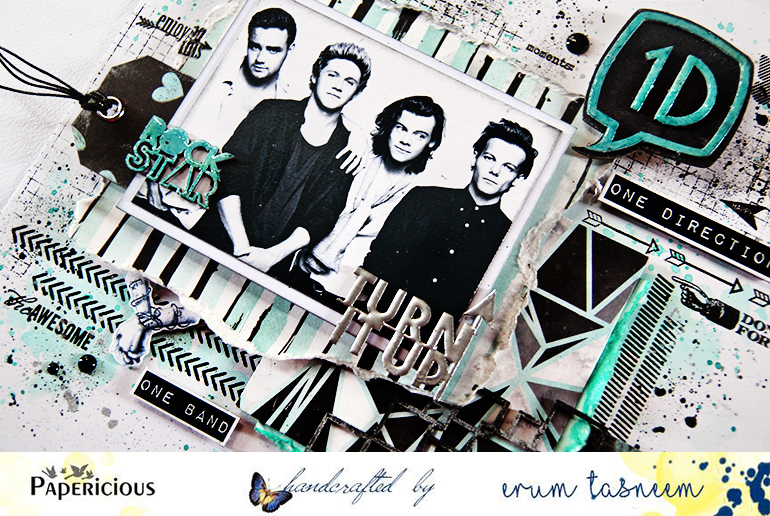 Papericious One Direction Layout using Azealian Papers by Erum Tasneem - @pr0digy0