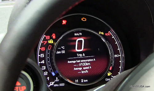European Abarth 500 Digital Instrument Panel