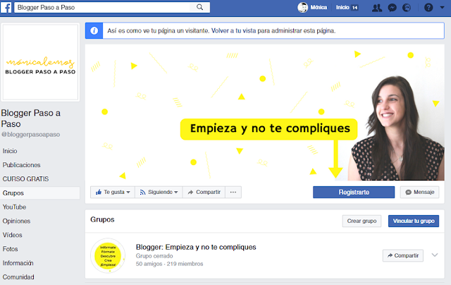 grupo de facebook en tu fan page - tutorial de facebook
