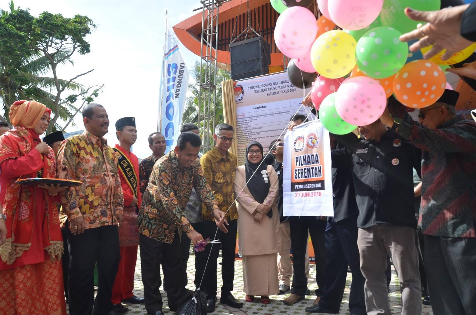 KPU Kota Pariaman Luncurkan Tahapan Pemilihan Walikota dan Wakil Walikota tahun 2018