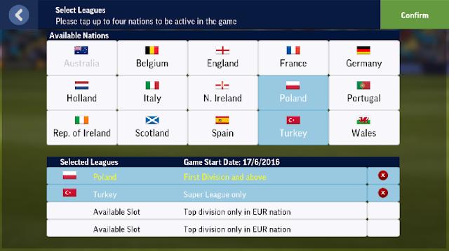 Pilih Liga Di Download FootBall Manager Mobile 2017 APK Data