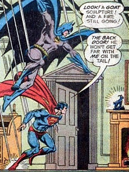 World's Finest #218, Superman and Batman drop in