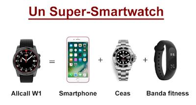 Un Super -Smartwatch AllCall1 Grey -3 in 1 comanda aici
