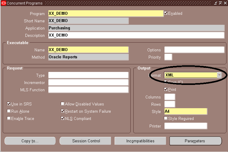 Oracle Reporting using XML Publisher and XDO: Add XML