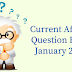 Monthly Current Affairs Question Bank-  January 2018