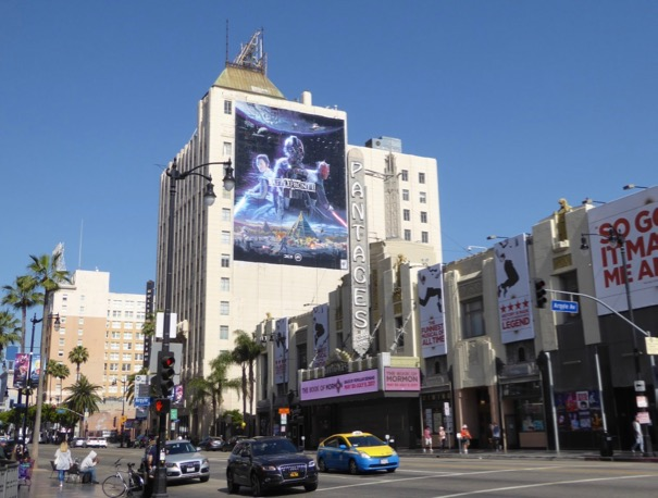 Giant Star Wars Battlefront II game billboard