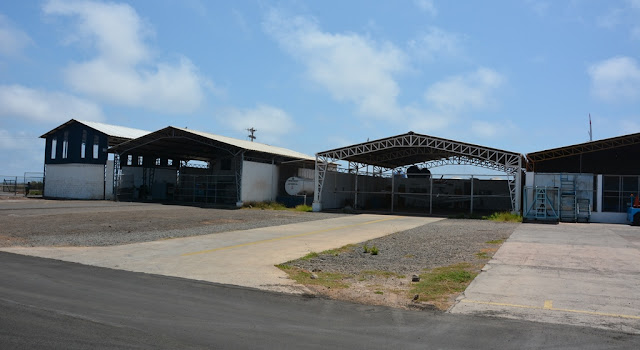 Baltra Airport hangar