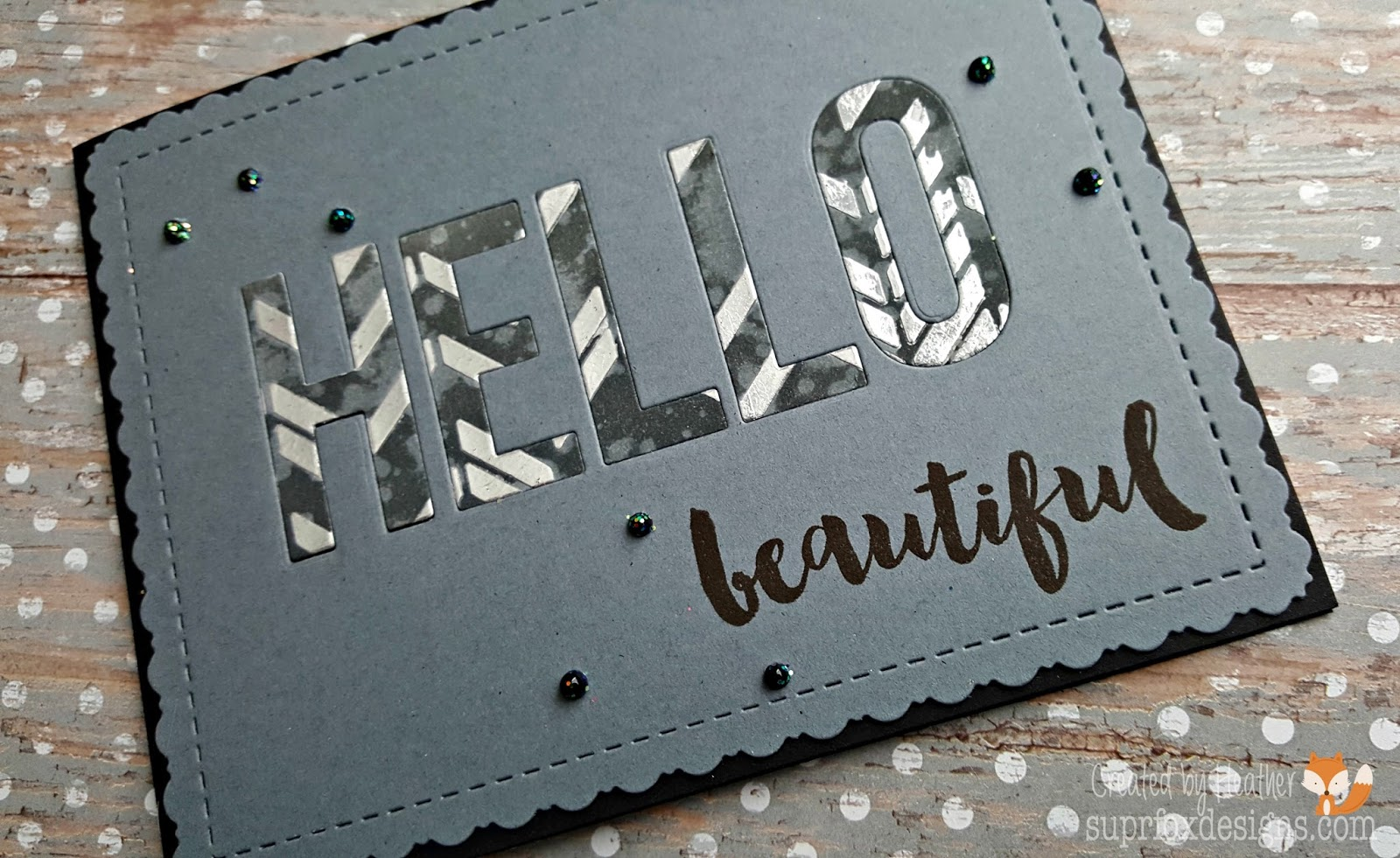 For The MFT Camp Create 2017 Day 1   Inlaid Made Easy I Have Made This  Super Easy, Yet Very Pretty Hello Card. I Started With A Piece Of Dark ...