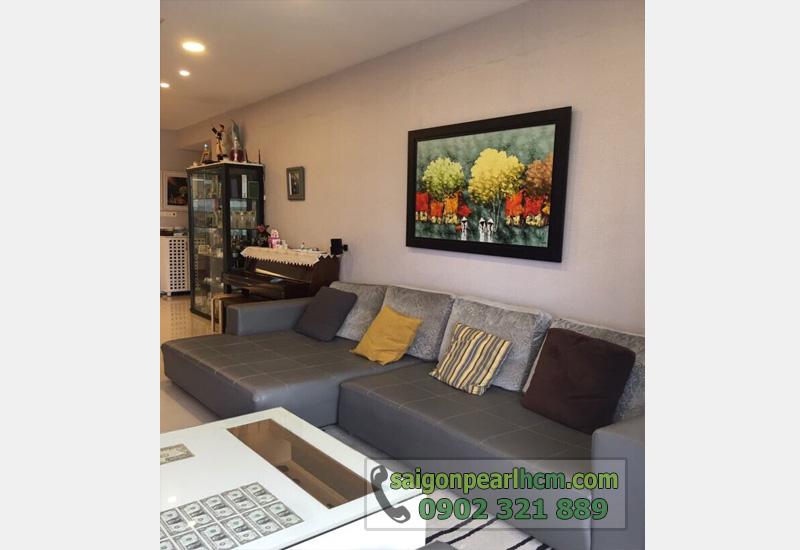 bán căn hộ Saigon Pearl tầng 3 view sông - sofa phòng khách