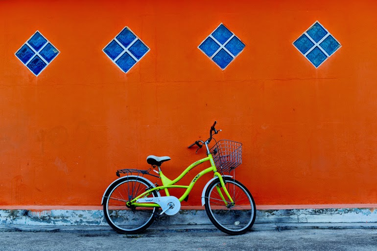 Bike on the wall Hua Hin Thailand Thierry Coulon Photography