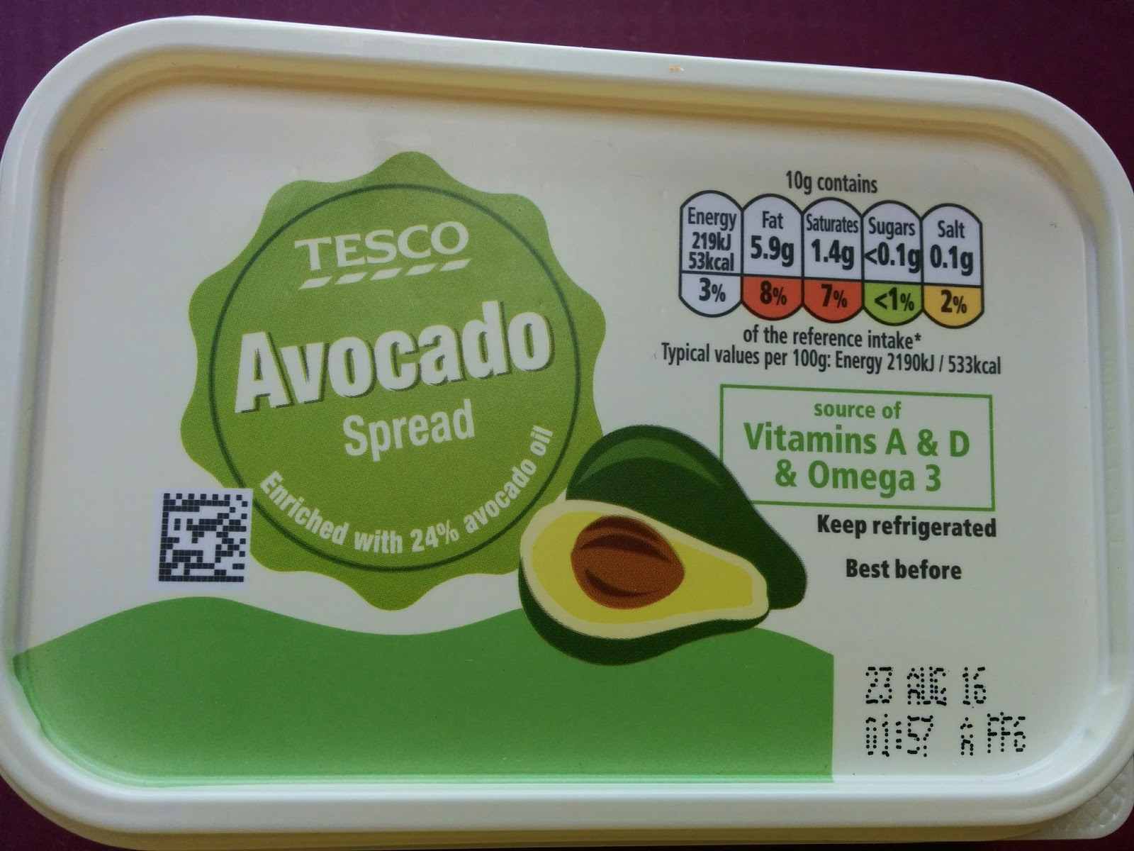 The excited eater tesco avocado spread review its a reduced fat spread made with vegtable oils and 24 avocado oil so essentially a bertolli type product with some solutioingenieria Images