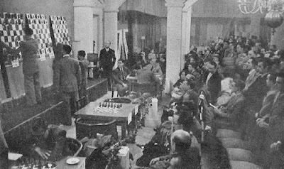 Torneo Internacional de Ajedrez Barcelona 1946, sala de juego