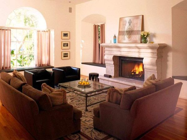 living room layout ideas with fireplace