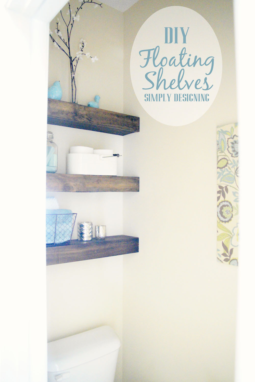 DIY Built-In Floating Shelves | how to build floating shelves - these make a perfect shelf for a bathroom or other small space |  #DIY #shelves #buildit #bathroom