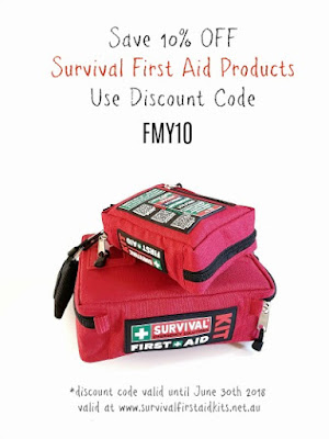 10% off survival first aid kits
