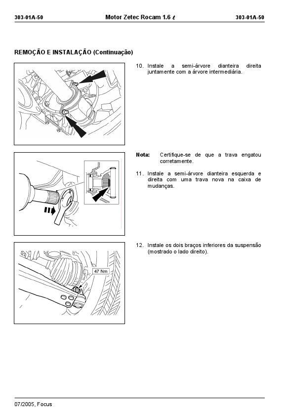 MANUAIS DO PROPRIETÁRIO: MANUAL MECÂNICO FORD MOTOR ZETEC 1.6