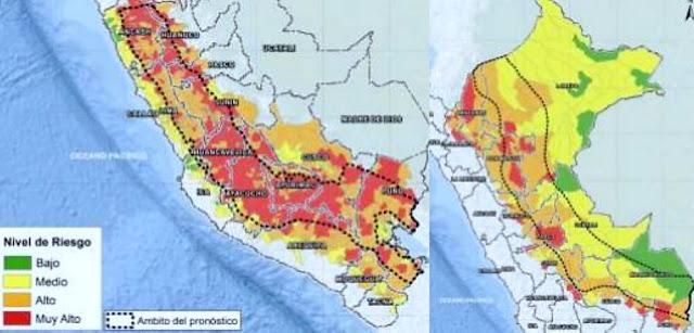 524 distritos de sierra y selva tienen riesgo muy alto de huaicos