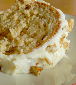 Hummingbird Bundt Cake with Pecan Cream Cheese Frosting...the cake all Southerners love!  Tangy, full of banana flavor, studded with crushed pineapple and the most delicious pecan cream cheese frosting. (sweetandsavoryfood.com)