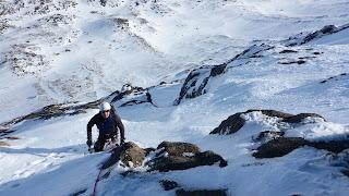 Winter climbing on Cnap Coire na Spreidhe