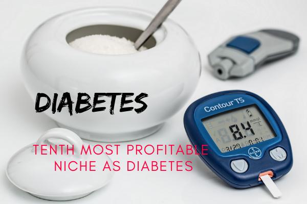 tenth most profitable niche as diabetes