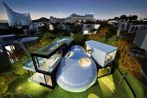 rumah model desain futuristik properti masa depan