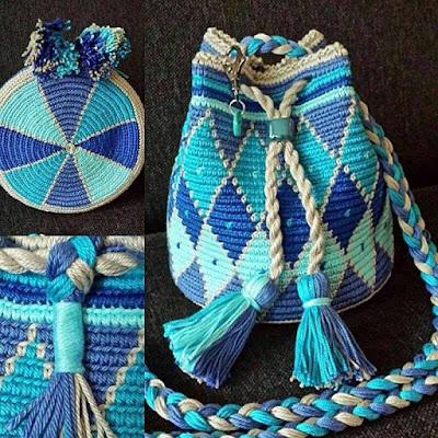 szydełkowe torby mochilla wzory