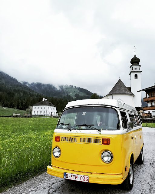 Volkswagen T2 bus in Thierbach the smallest town in the Wildschönau valley