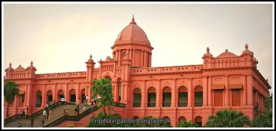 Mughal Buildings, Ahsan Manjil in old Dhaka, Old Dhaka, Trip Navigation Bangladesh