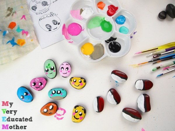 Sketch out your Pokemon before you start painting! Pokemon Painted Rocks