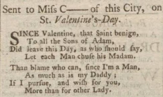 Valentine poem to Miss C, Bath Chronicle, 24 February 1763